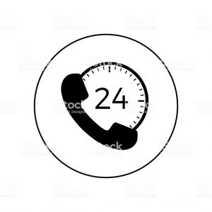 24 300x300 - Support clock icon in circle on white background